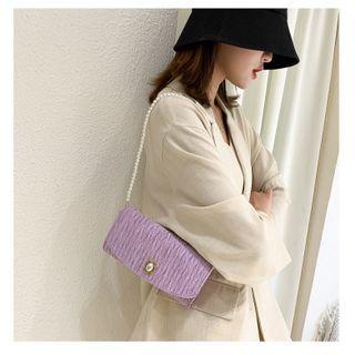 Fema - Faux Pearl Flap Handbag