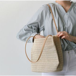 monroll - Stroh Handtasche