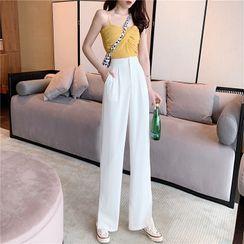 Guromo - High-Waist Wide-Leg Dress Pants