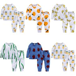 Kissy Kiddos - Kids Set: Long-Sleeve Printed T-Shirt + Sweatpants