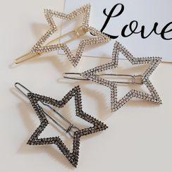 moliveny - 星星水鑽髮夾
