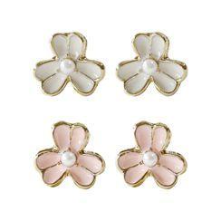 KATENKELLY - Flower Ear Studs