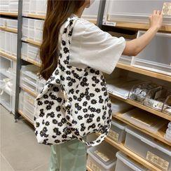Milha - Floral Print Corduroy Tote Bag