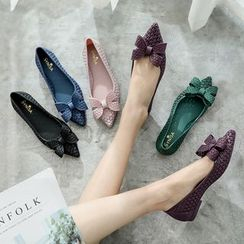 Alisse - Pointed Bow Accent Flats