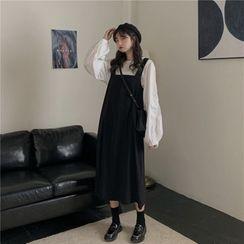 Gilmort - 百搭气质衬衫+纯色背带裙