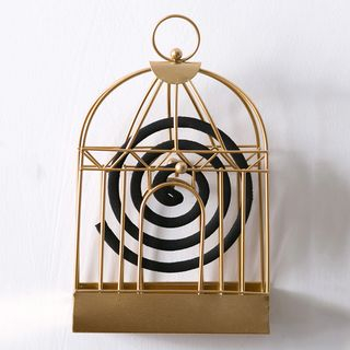 Popcorn - Iron Bird Cage Style Mosquito Coil Holder