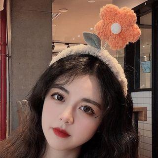 Miss Floral - 毛絨花朵潔面髮帶