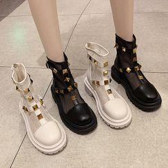 NODO - Studded Short Boots