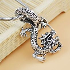 Soosina - Stainless Steel Dragon Pendant Necklace