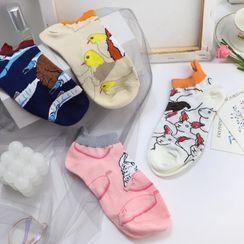 Rivara - Set Of 4 Pairs: Printed Socks