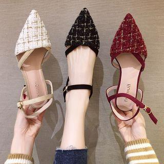 Yuki Yoru - Block Heel Pointy Sandals