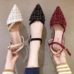 Yuki Yoru - 粗跟尖頭涼鞋