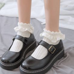 Mimiyu - Set of 3: Ruffled Socks