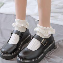 Mimiyu - 三件套装: 荷叶袜子