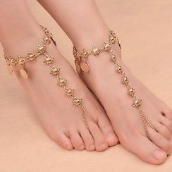 Seirios - Fringed Toe Ring Anklet