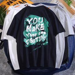 Rampo - Lettering Short-Sleeve T-Shirt