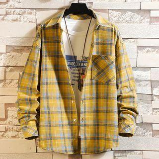 Rampo - Plaid Long-Sleeve Shirt