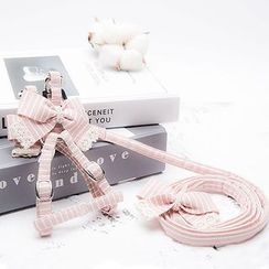 Salonga - Lace Trim Bow-accent Pet Leash