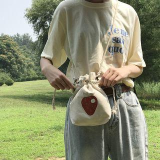 TangTangBags - Printed Drawstring Crossbody Bag