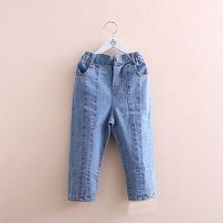贝壳童装 - 小童宽腿牛仔裤