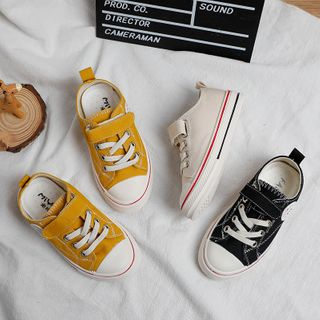 Creayu - Kids Adhesive Strap Canvas Sneakers