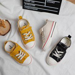 Creayu - Kids Adhesive Strap Canvas Sneakers