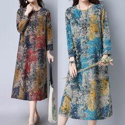 Ashlee - Printed Midi A-Line Dress