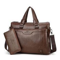 Mayanne - Faux Leather Briefcase