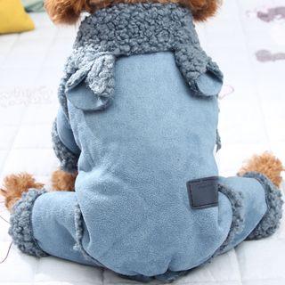 Salonga - 動物耳朵抓毛襯裡寵物連衣褲