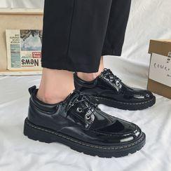 Holzwege - 純色仿皮繫帶鞋