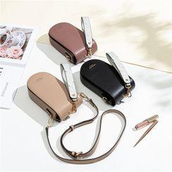 Pieris - Floral Print Faux Leather Handbag