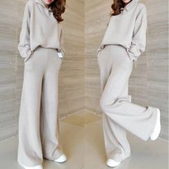 Fancy Show - 套装: 连帽毛衣 + 宽腿裤
