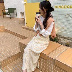 Windcatcher - 長袖純色襯衫/高腰碎花裙