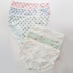 MEOKO - Set of 6: Printed Panties