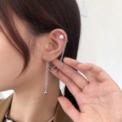 Coolgirl - Beaded Chain Ear Cuff