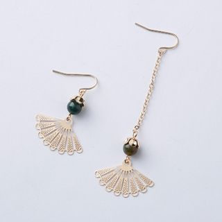 Cometto - Metallic Fan Drop Earring