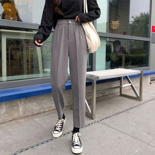 monroll - Cropped Straight Fit Dress Pants