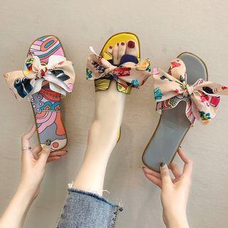 Belbie - Ribbon Slide Sandals