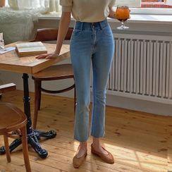 HOTPING - [MAGIC PANTS] Boot-Cut Jeans