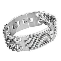 Trend Cool - Letter Engraved Chain Bracelet