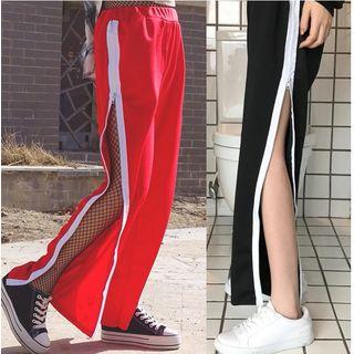 Whoosh - Zip Detail Wide Leg Sweatpants