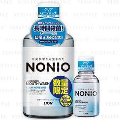 LION - Nonio Mouthwash Clear Herb Mint 600ml + Mini Rinse 80ml