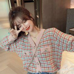 MISS YOYO - Tweed Cardigan