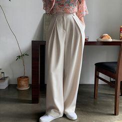 MERONGSHOP - Pleated Wide-Leg Pants