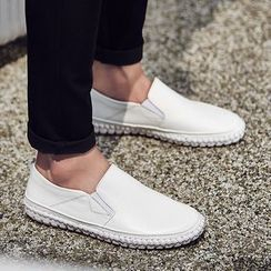 WeWolf(ウィーウルフ) - Genuine Leather Slip-On Loafers
