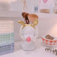 Yuja Girl - Bubble Gum Girl Resin Vase / Makeup Brush Holder