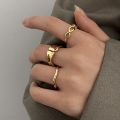YUGGI - Set of 3 : Alloy Ring (assorted designs)