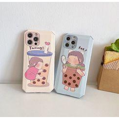 DipCool - Bubble Tea Print Phone Case - iPhone 12 Pro Max / 12 Pro / 12 / 12 mini / 11 Pro Max / 11 Pro / 11 / SE / XS Max / XS / XR / X / SE 2 / 8 / 8 Plus / 7 / 7 Plus