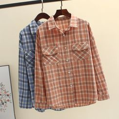 Suguru - 長袖格子襯衫