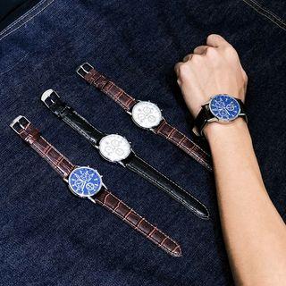Lazi Boi - Faux Leather Strap Watch